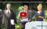 Uroczystość poświęcenia kamiennej płyty na cmentarzu ewangelicki w Rakoniewicach